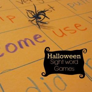halloween sight word games