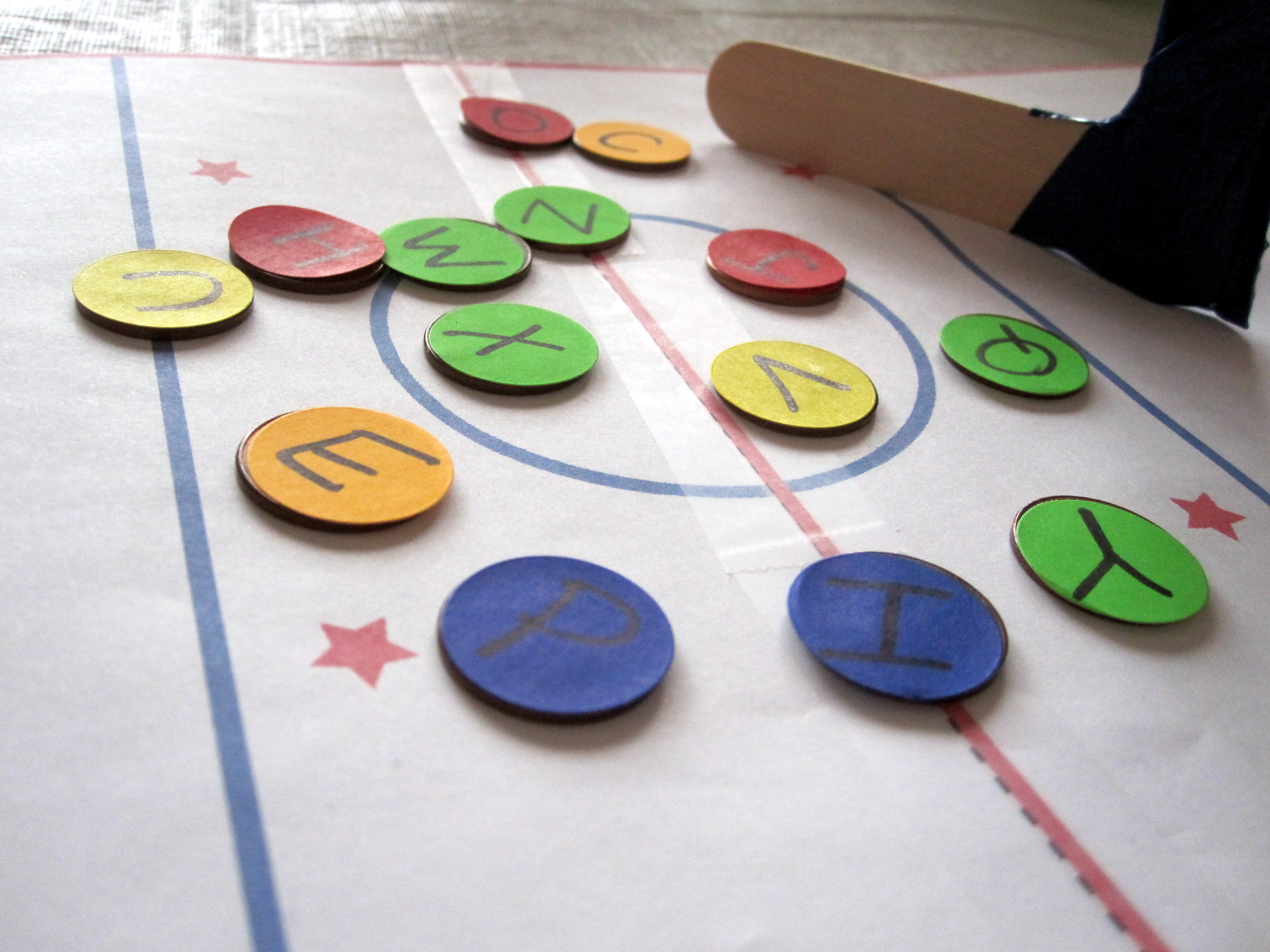 rainy day activities letter hockey