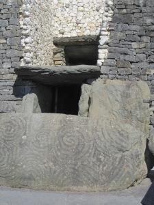 the opening at Newgrange, Ireland